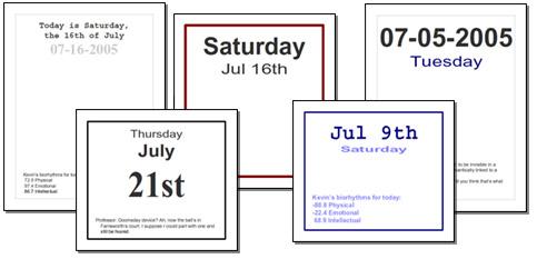 365 day calendar template