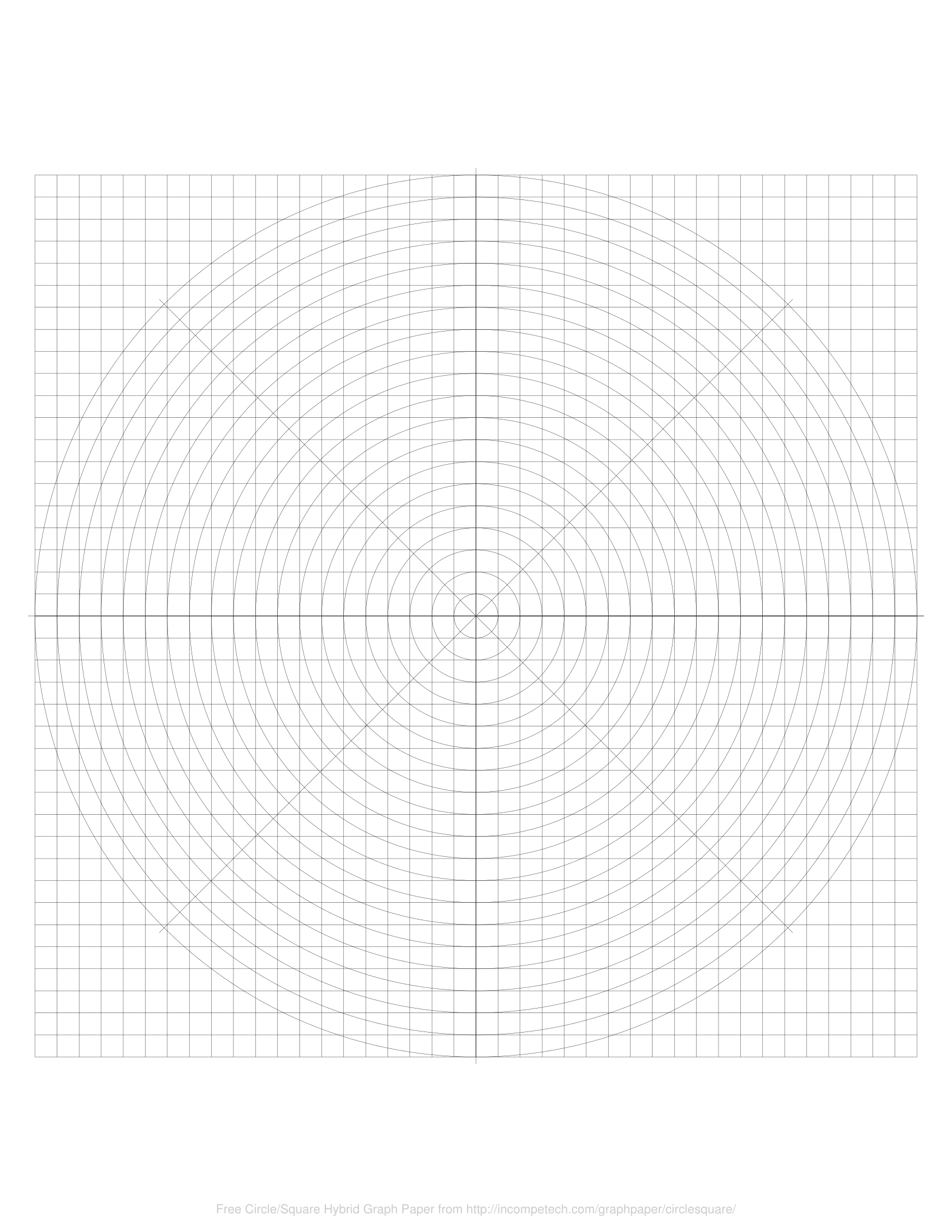 free online graph paper    radial square hybrid
