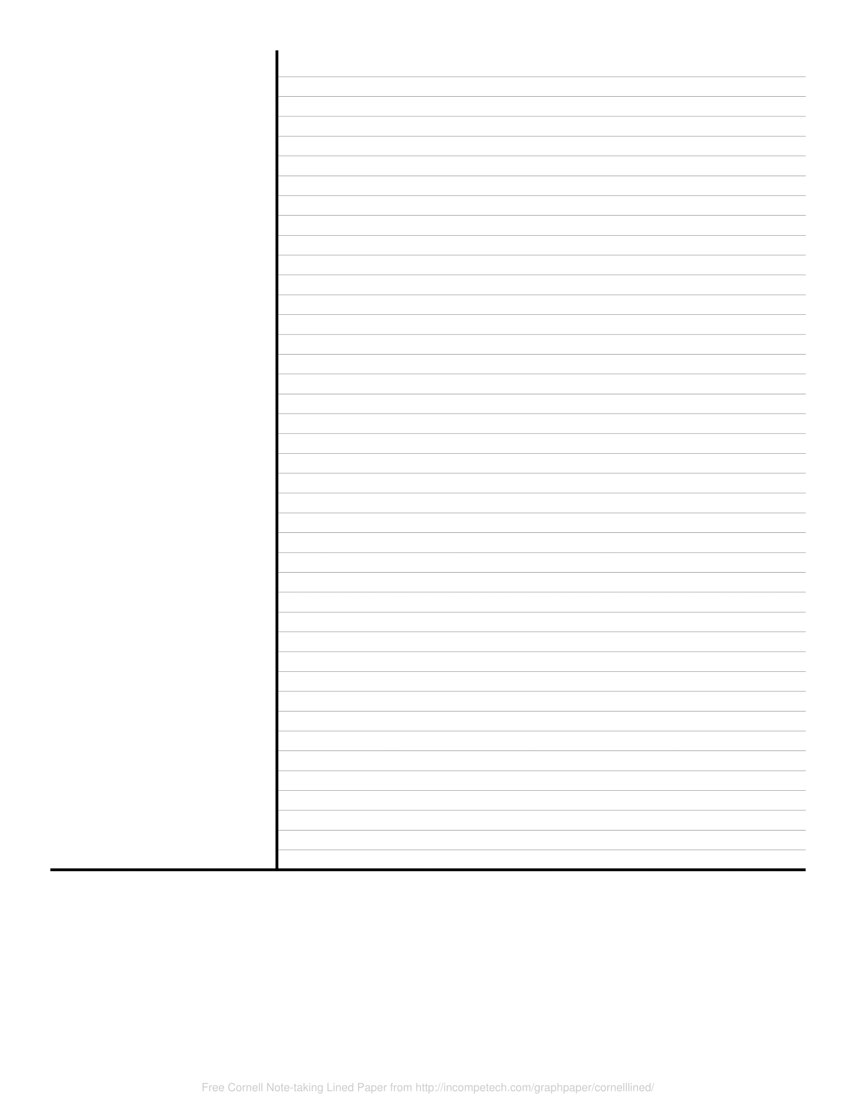 Free Online Graph Paper Cornell Note Taking Lined