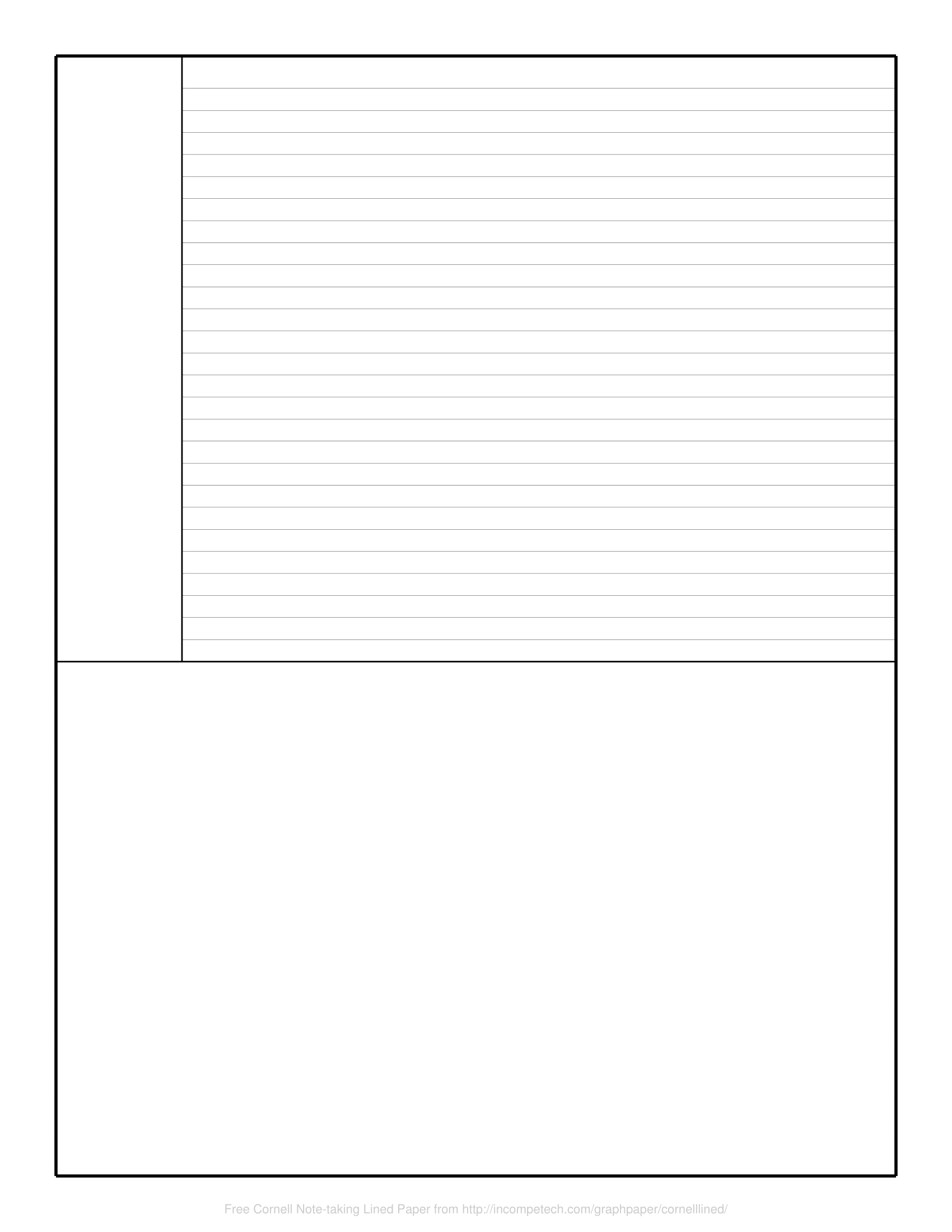 picture relating to Printable Note referred to as No cost On the internet Graph Paper / Cornell Notice-having Included