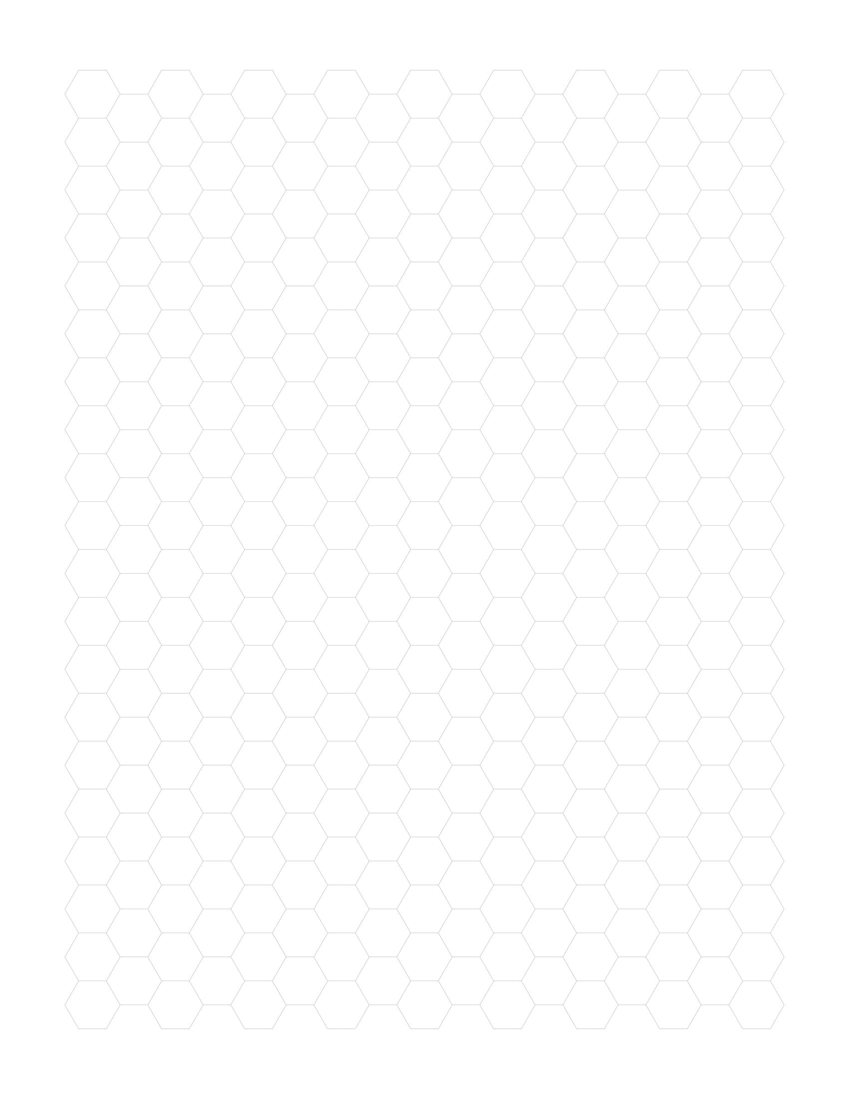 Free Online Graph Paper / Hexagonal