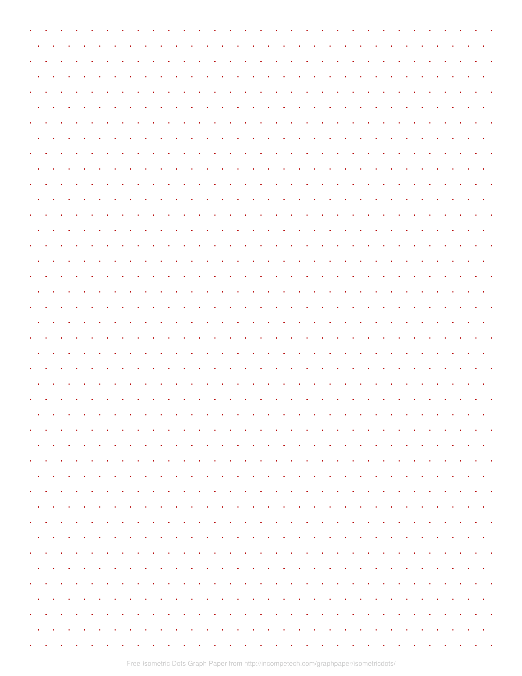 graphic about Printable Isometric Paper titled No cost On the internet Graph Paper / Isometric Dots