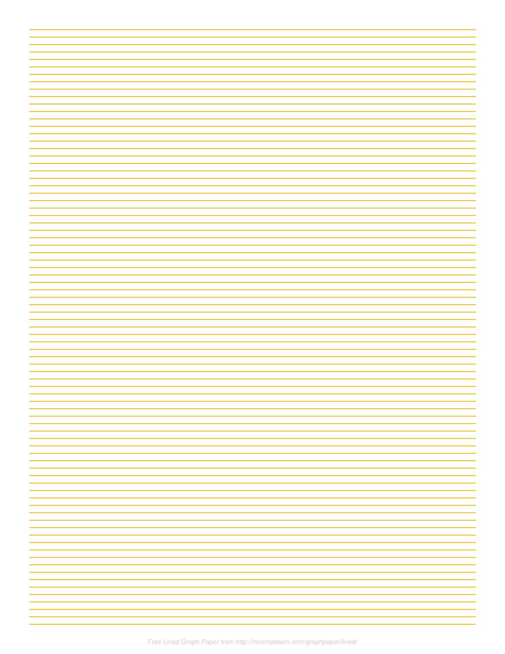 lined paper pdf landscape