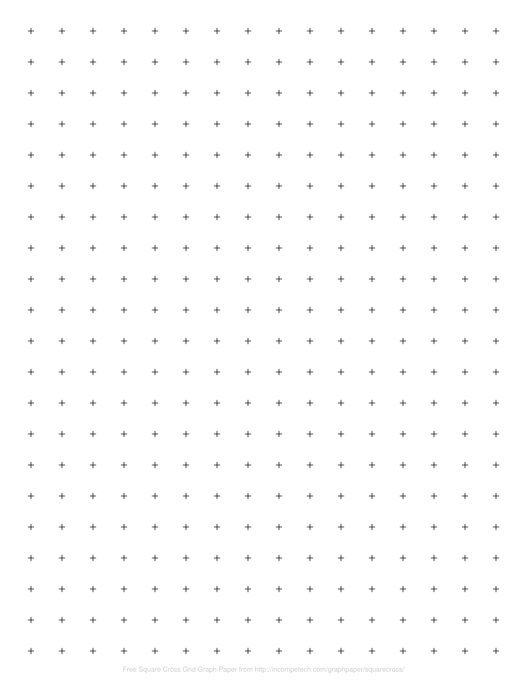 free online graph paper square cross grid
