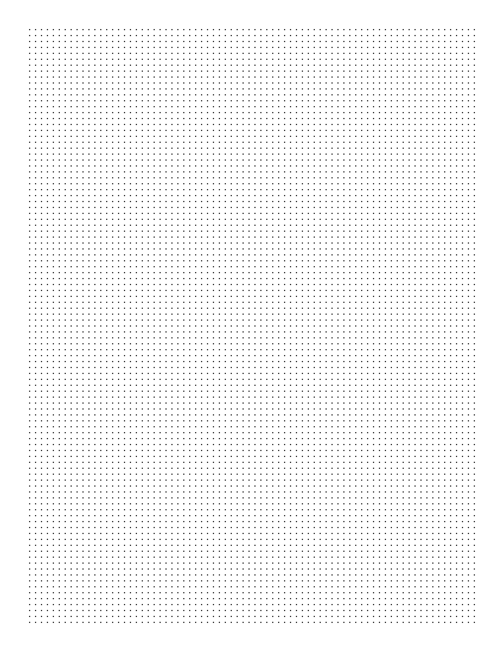 image relating to Free Printable Dot Grid Paper known as No cost On line Graph Paper / Sq. Dots
