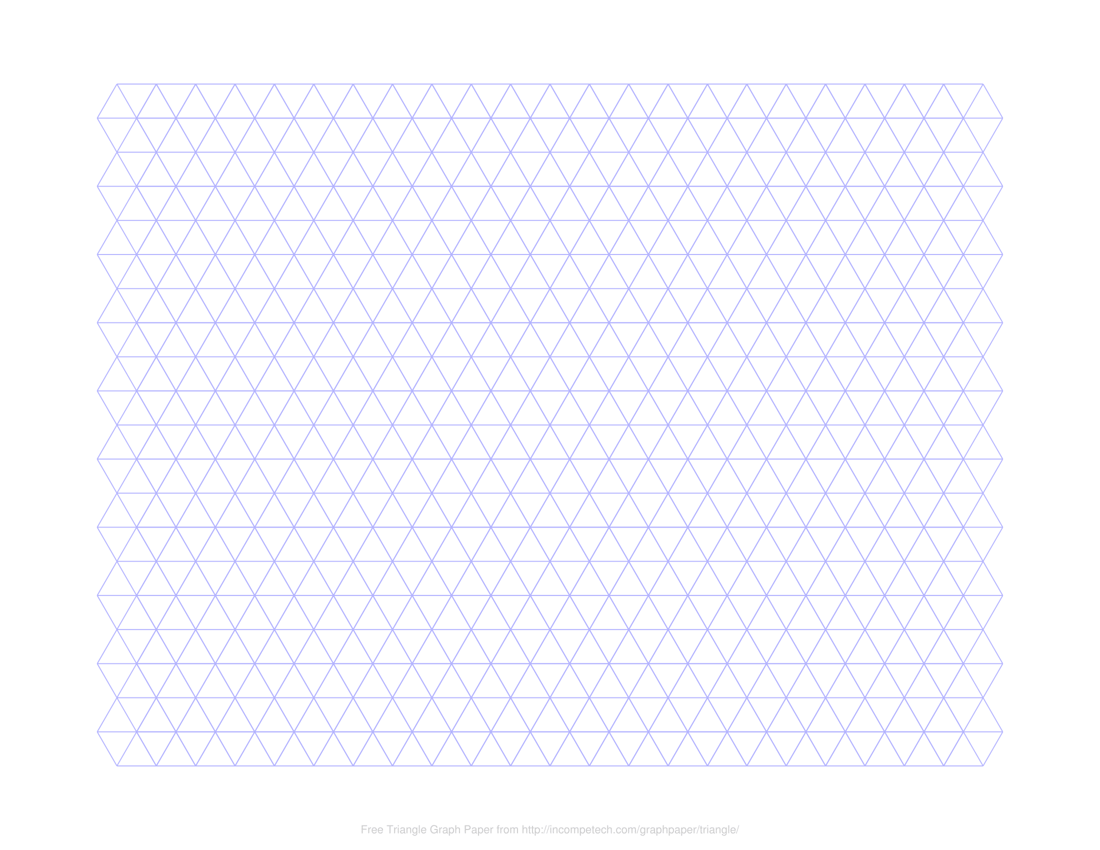 image regarding Printable Triangle titled No cost On the net Graph Paper / Triangle