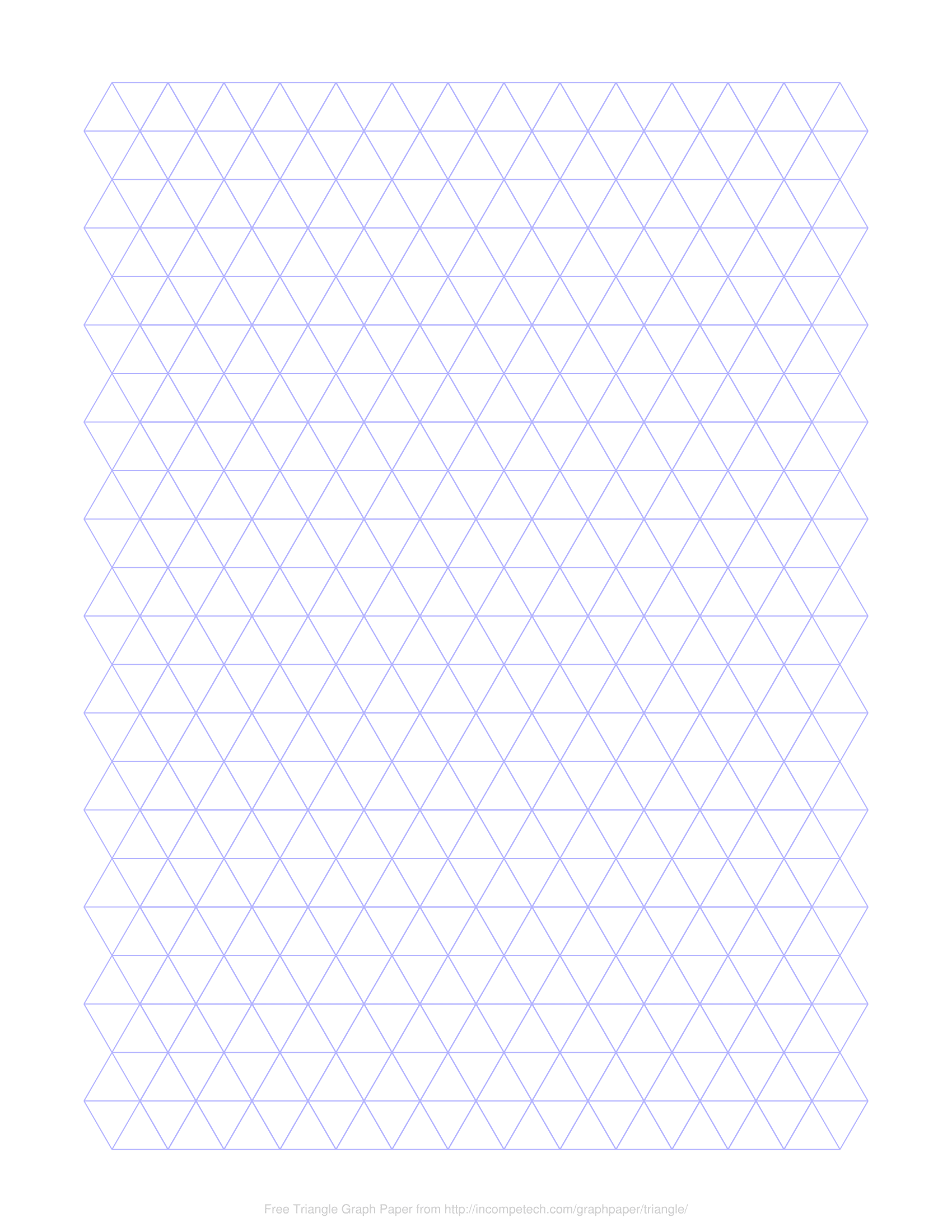 picture about Printable Triangle called Free of charge On the net Graph Paper / Triangle