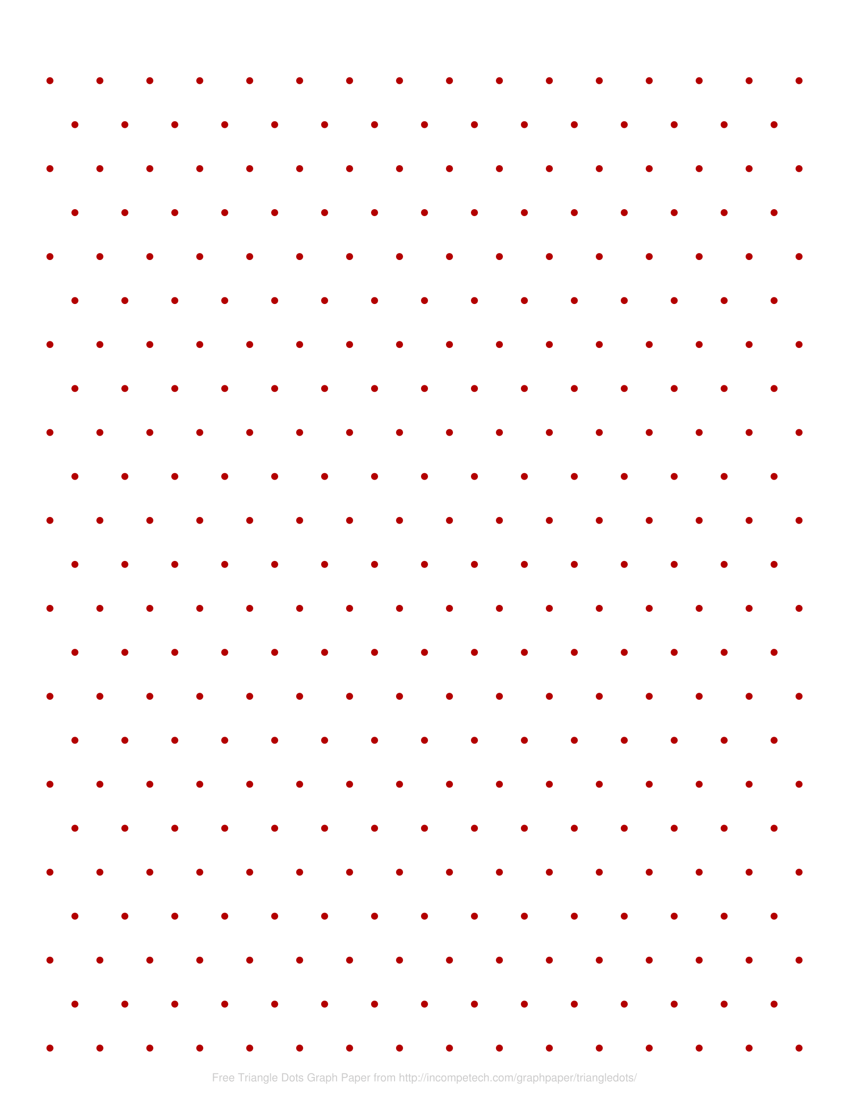 Free Online Graph Paper Triangle Dots
